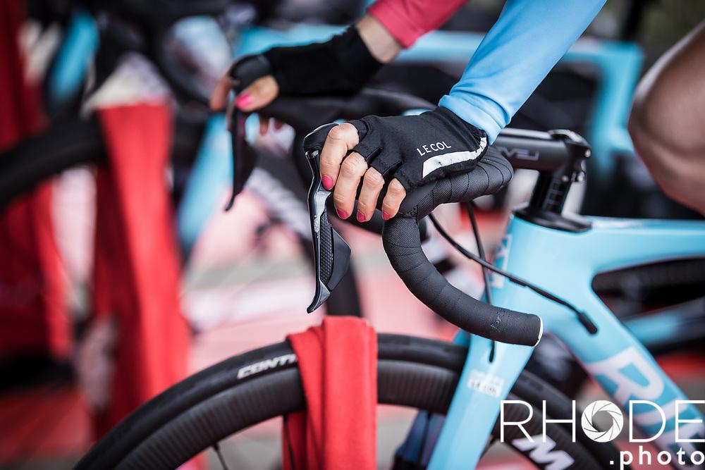 Dani Christmas (GBR/Drops-LeCol) pre race<br /> <br /> <br /> Ceratizit Festival Elsy Jacobs (LUX) 2021<br /> UCI Women Elite 2.1<br /> Day 1 - prologue : Individual Time Trial (ITT) – Cessange (LUX) 2.2km <br /> <br /> ©RhodePhoto