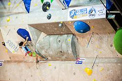 Sachi Amma (JAP) during men final competition of IFSC Climbing World Cup Kranj 2014, on November 16, 2014 in Arena Zlato Polje, Kranj, Slovenia. (Photo By Grega Valancicr / Sportida.com)