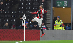 Sheffield United's Leon Clarke celebrates scoring his side's first goal of the game