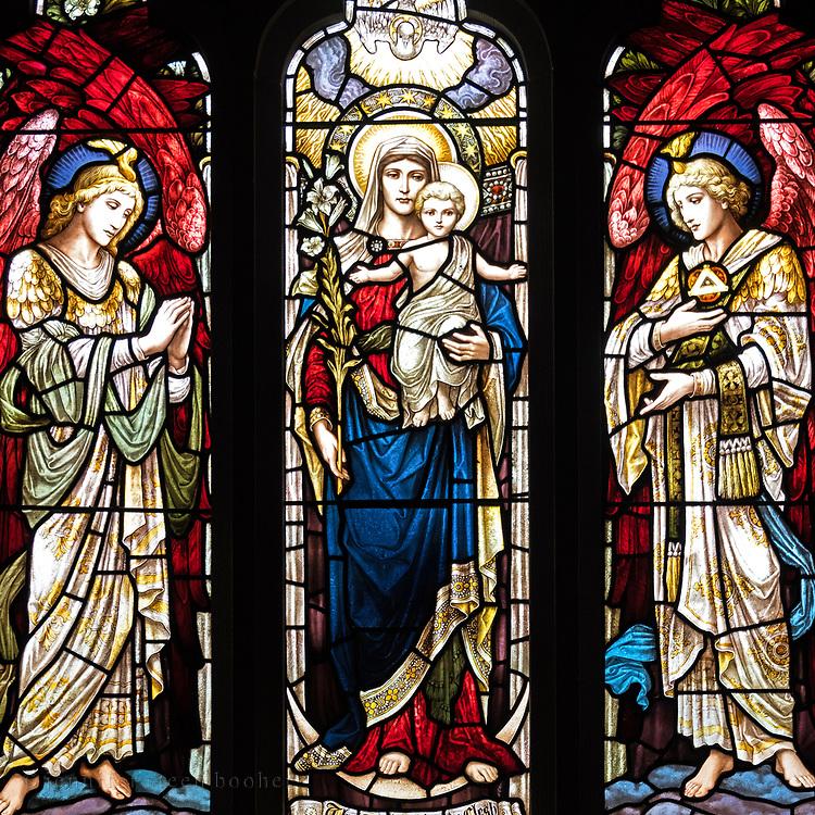 Window 1 on plan.<br /> <br /> Saint Saviour's Episcopal Church, Bar Harbor, Maine.
