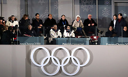 South Korean President Moon Jae (centre) with IOC President Thomas Bach (left) during the Opening Ceremony of the PyeongChang 2018 Winter Olympic Games at the PyeongChang Olympic Stadium in South Korea.
