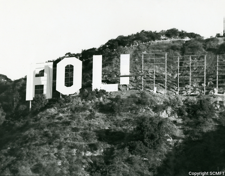 1978 The new Hollywood Sign under construction
