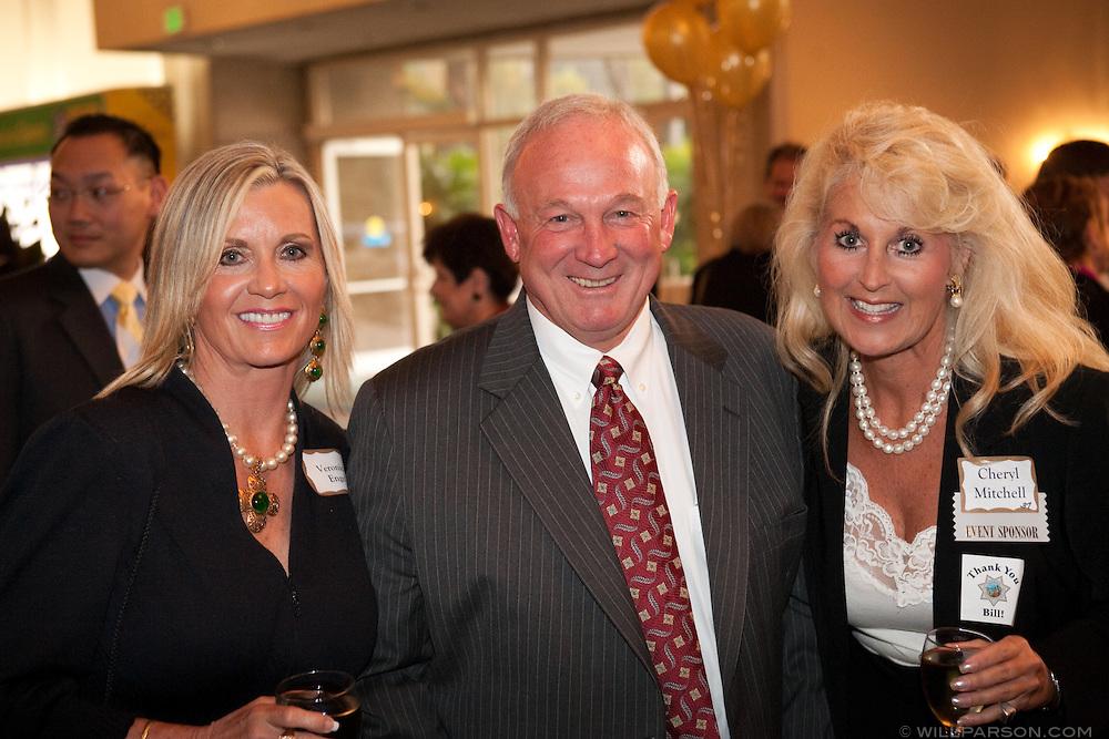Mayor Sanders with Veronica Engel and Cheryl Mitchell