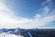 The view from Gothics mountain on a sunny winter day