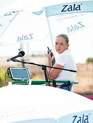 PORTOROZ, SLOVENIA - SEPTEMBER 12: Chair umpire Ana Sodnik during the 1st Qualifying Round of WTA 250 Zavarovalnica Sava Portoroz at SRC Marina, on September 12, 2021 in Portoroz / Portorose, Slovenia. Photo by Nik Moder / Sportida