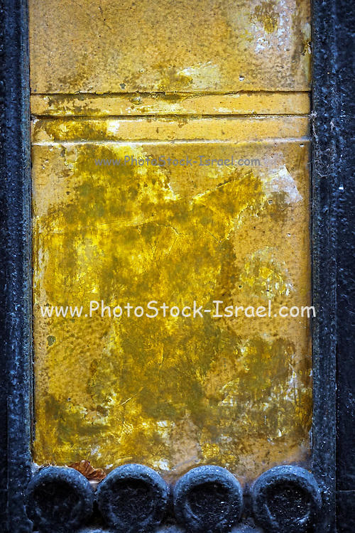 Gold colored chipped wall background