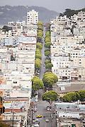 Top view of Burrard Street, San Francisco, California.