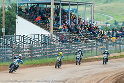 Pappy Hoel Half Mile Classic at the Sturgis Fairgrounds during the annual Sturgis Black Hills Motorcycle Rally. SD, USA. August 6, 2014.  Photography ©2014 Michael Lichter.
