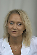 Swedish crime writer Karin Alvtegen pictured at the Edinburgh International Book Festival where she talked about her work.  The Book Festival was the World's largest literary event and featured writers from around the world. The 2006 event featured around 550 writers and ran from 13-28 August.