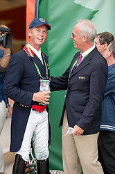 Carl Hester (GBR) with FEI DIrector of Dressage Trond Asmyr - Freestyle Grand Prix Dressage - Alltech FEI World Equestrian Games™ 2014 - Normandy, France.<br /> © Hippo Foto Team - Jon Stroud<br /> 25/06/14