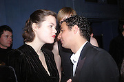 Jasmine Guinness and Zac Posen .  Zac Posen Spring/ Summer collection launch party. The Blue Bar, Berkeley Hotel. London. 7 March 2004. Dafydd Jones,  ONE TIME USE ONLY - DO NOT ARCHIVE  © Copyright Photograph by Dafydd Jones 66 Stockwell Park Rd. London SW9 0DA Tel 020 7733 0108 www.dafjones.com