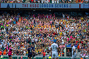 Twickenham, United Kingdom 25th May 2019 HSBC London Sevens, Crowd celebrate ENG victory in the England vs Scotland match, played at  the  RFU Stadium, Twickenham, England, <br /> © Peter SPURRIER: Intersport Images<br /> <br /> 15:27:03 25.05.19