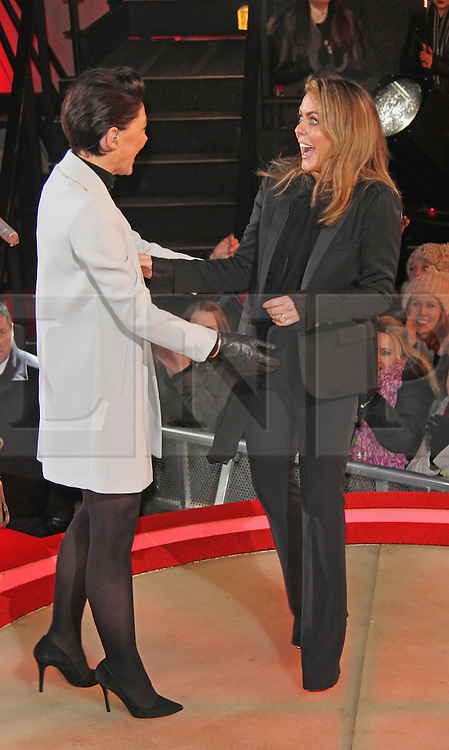 © Licensed to London News Pictures. 27/01/2015, UK. Celebrity Big Brother: Winter 2015 - Eviction 3; Elstree Studios; Elstree UK; 27 January 2015; Emma Willis; Patsy Kensit. Photo credit : Brett D. Cove/Piqtured/LNP