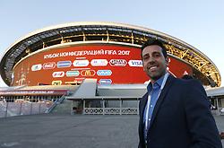 June 28, 2017 - O coordenador da Seleção Brasileira de Futebol Edu Garcia chega para assistir a partida entre Portugal x Chile válida pelas semifinais da Copa das Confederações 2017, nesta quarta-feira (28), realizada no Estádio da Arena Kazan, na cidade de Kazan, na Rússia. (Credit Image: © Rodolfo Buhrer/Fotoarena via ZUMA Press)