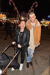 KYLE DE'VOLLE and MELANIE BLATT at the Hyde Park Winter Wonderland - VIP Preview Night, Hyde Park, London on 17th November 2016.