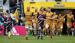 Bristol Rugby players run out at Twickenham - Mandatory by-line: Robbie Stephenson/JMP - 03/09/2016 - RUGBY - Twickenham - London, England - Harlequins v Bristol Rugby - Aviva Premiership London Double Header