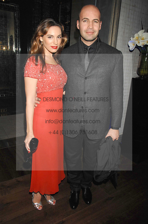 KELLY BROOK and BILLY ZANE at a party to launch the Dom Perignon OEotheque 1995 held at The Landau, Portland Place, London W1 on 26th February 2008.<br /><br />NON EXCLUSIVE - WORLD RIGHTS