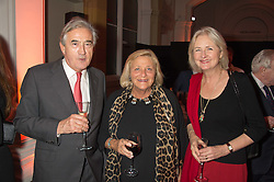 Left to right, ANTONY BEEVOR, DAME VIVIEN DUFFIELD and ARTEMIS COOPER at a dinner to celebrate Sir David Tang's 20 year patronage of the Royal Academy of Arts and the start of building work on the Burlington Gardens wing of the Royal Academy held at 6 Burlington Gardens, London on 26th October 2015.