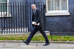 © Licensed to London News Pictures. 22/10/2019. London, UK. Minister of State for Environment, Food and Rural Affairs and Department for International Development ZAC GOLDSMITH arrives in Downing Street to attend the weekly cabinet meeting. Photo credit: Dinendra Haria/LNP