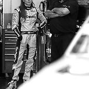 Danica Patrick, driver of the #7 GoDaddy Chevrolet speaks with crew chief Tony Eury Jr. during practice for the 60th Annual NASCAR Daytona 500 auto race at Daytona International Speedway on Friday, February 16, 2018 in Daytona Beach, Florida.  (Alex Menendez via AP)
