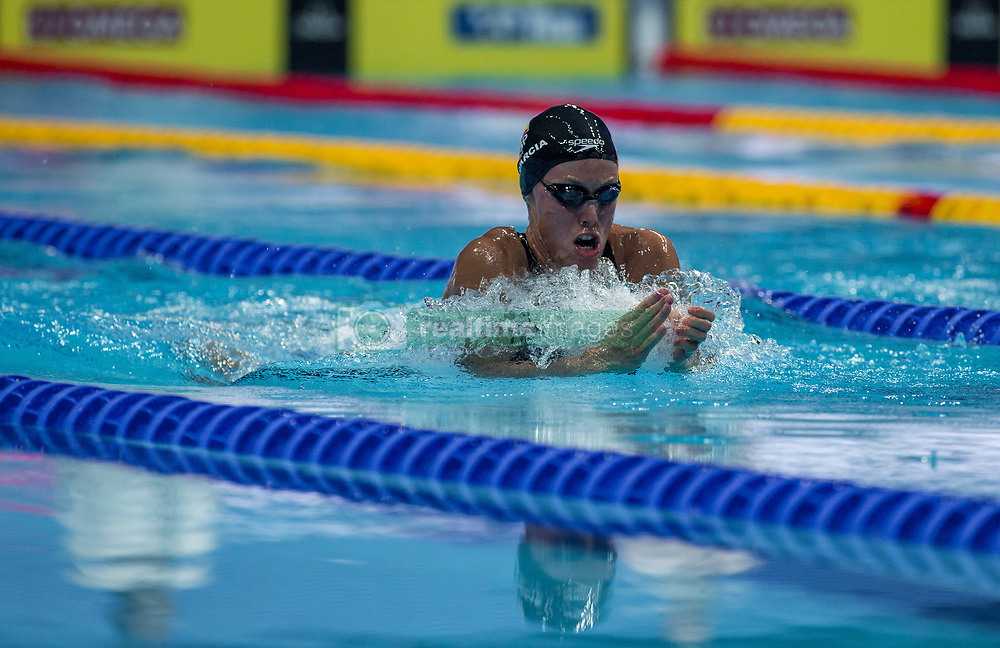 October 4, 2018 - Budapest, Hungary - Garcia Marina of Spain competes in the Womens 200m Breastsroke on day one of the FINA Swimming World Cup held at Duna Arena Swimming Stadium on Okt 04, 2018 in Budapest, Hungary. (Credit Image: © Robert Szaniszlo/NurPhoto/ZUMA Press)