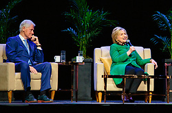 May 3, 2019 - Seattle, Washington, U.S. - Former President of the United States Bill Clinton and his wife former first lady and Secretary of State Hillary Rodham Clinton speak to a sold out crowd at WaMU Theater. (Credit Image: © Imagespace via ZUMA Wire)