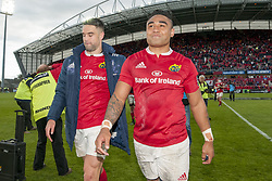 May 20, 2017 - Limerick, Irland - Francis Saili and Conor Murray of Munster pictured after the Guinness PRO12 Semi-Final match between Munster Rugby and Ospreys at Thomond Park Stadium in Limerick, Ireland on May 20, 2017  (Credit Image: © Andrew Surma/NurPhoto via ZUMA Press)