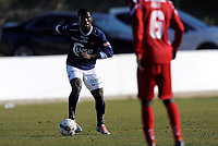 Fotball<br /> 22. Februar 2012<br /> Treningskamp<br /> La Manga, Spania<br /> Viking - FC Nordsjælland<br /> King Osei Gyan (L) , Viking<br /> Enock Kofi Adu (R) , Nordsjælland<br /> Foto: Astrid M. Nordhaug