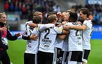 Football UEFA Champions League Q3<br /> Rosenborg - Maribor<br /> Lerkendal Stadium, Trondheim, Norway<br /> 13 August 2019<br /> <br /> Alexander Søderlund (midten) har scoret og utlignet til 1-1 for Rosenborg<br /> <br /> Foto : Arve Johnsen, Digitalsport