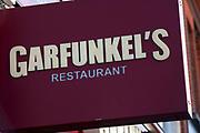 Sign for restaurant chain Garfunkel's.