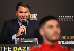 Eddie Hearn during the undercard press conference at Madison Square Garden, New York.