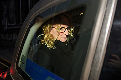 © Licensed to London News Pictures. 21/12/2016. London, UK. An emotional looking CLAIRE BLACKMAN  leaves the Royal Courts of Justice in London in a cab following a bail hearing for her husband, Royal Marine Sergeant Alexander Blackman. Sgt Blackman is currently serving a life sentence after being convicted of murdering a wounded Taliban fighter in Afghanistan in 2011. Photo credit: Ben Cawthra/LNP