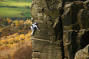 Lucinda Hughes on End of the Affair, E8 6b, Curbar Edge