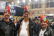 Darts fans in fancy dress enjoying the atmosphere before the World Championship Darts 2018 at Alexandra Palace, London, United Kingdom on 17 December 2018.