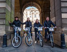Just Eat E-bikes launch, Edinburgh, 2 March 2020
