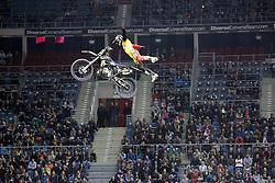 20.03.2015, Tauron Arena, Krakau, POL, Diverse night of the Jumps, FMX Weltmeisterschaft 2015, im Bild ROB ADELBERG – AUSTRALIA // during the diverse night of the jumps FMX world championchip 2015 at the Tauron Arena in Krakau, Poland on 2015/03/20. EXPA Pictures © 2015, PhotoCredit: EXPA/ Newspix/ MAREK KLIMEK/NEWSPIX.PL<br /> <br /> *****ATTENTION - for AUT, SLO, CRO, SRB, BIH, MAZ, TUR, SUI, SWE only*****