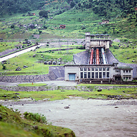 A hydroelectric plant in Nepal, 1980.