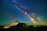 Milky Way over the T.A. Moulton Barn along Mormon Row in Grand Teton National Park, Wyoming.