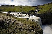Faxi í Jökulsá á Fljótsdal, Norðurdal. Myndun Ufsalóns vegna Kárahnjúkavirkjunar hefur áhrif á vatnsmagn hennar, sérstaklega á vorin þegar rennsli í henni er minna. Glacier river Jokusla a Fljotsdal, Nordurdal.