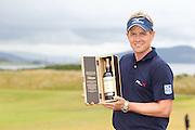 Scottish Open winner 2011. Luke Donald with the winners bottle of Ballantine's 30 year old.