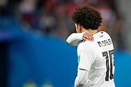 Egypt Mohamed Salah injury on his shoulder during the 2018 FIFA World Cup Russia, Group A football match between Russia and Egypt on June 19, 2018 at Saint Petersburg Stadium in Saint Petersburg, Russia - Photo Stanley Gontha / Pro Shots / ProSportsImages / DPPI