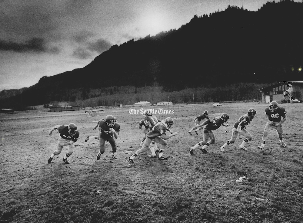 """Why, asked the The Morton Journal, are Morton High School's Huskies good enough to play in Seattle's Kingdome """"but not good enough to have a decent field at home?"""" (Cole Porter / The Seattle Times, 1977)"""