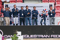 French team supporting for Delaveau Patrice (FRA) - Orient Express<br /> PSI FEI European Championships Jumping - Herning 2013<br /> © Dirk Caremans