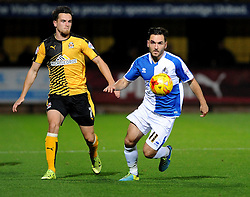 Jake Gosling of Bristol Rovers gets away from Ryan Donaldson of Cambridge United - Mandatory byline: Neil Brookman/JMP - 07966 386802 - 30/10/2015 - FOOTBALL - The Abbey Stadium - Cambridge, England - Cambridge United v Bristol Rovers - Sky Bet League Two