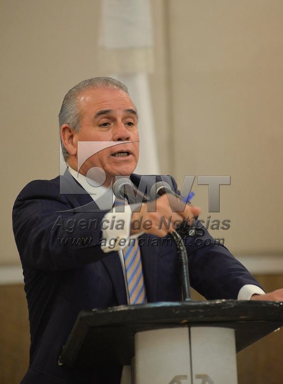 Toluca, México (Febrero 28, 2018).- Rogelio Cerda Pérez, Procurador Federal del Consumidor durante un encuentro con integrantes de CANACO y Organizaciones Comerciales.  Agencia MVT / Crisanta Espinosa.