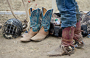 A rider gets ready during the CPRA Rodeo at the Boulder County Fairgrounds on Sunday. Go to timescall.com for more photos.<br /> <br /> Matthew Jonas / Staff Photographer Aug. 2, 2015