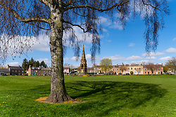 View of the Green in village of Denholm in Scottish Borders, Scotland, UK