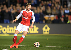 20 February 2017 - The FA Cup - (5th Round) - Sutton United v Arsenal - Rob Holding of Arsenal - Photo: Marc Atkins / Offside.