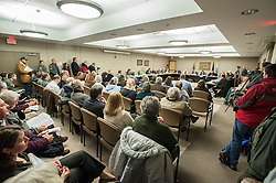 A standing room only crowd attended a meeting of the county delegation at the county complex on North Main Street on Monday, January 21, 2013.  (Alan MacRae/for the Laconia Daily Sun)