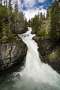 Big Timber Creek Falls in the Crazy Mountains, Montana.
